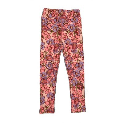 LuLaRoe Kids Small-Medium Floral Paisley Leggings ( S/M fits kids 2-8 ) SM-1002-N