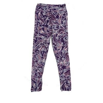 LuLaRoe Kids Small-Medium Floral Paisley Leggings ( S/M fits kids 2-8 ) SM-1003-R