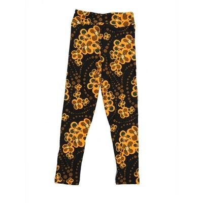 LuLaRoe Kids Small-Medium Floral Polka Dot Leggings ( S/M fits kids 2-8 ) SM-1001-H