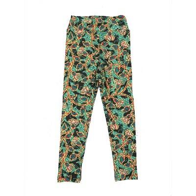 LuLaRoe Kids Small-Medium Floral Polka Dot Leggings ( S/M fits kids 2-8 ) SM-1003-Z