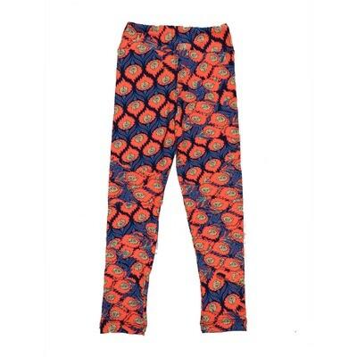 LuLaRoe Kids Small-Medium Floral Stripe Leggings ( S/M fits kids 2-8 ) SM-1001-I