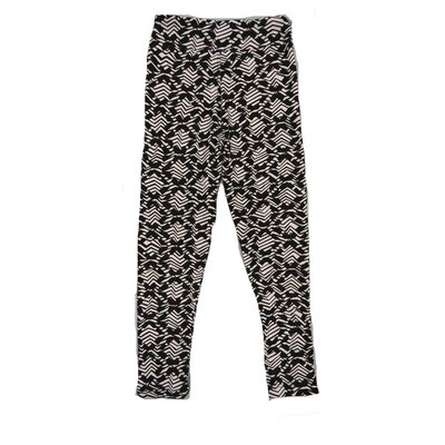 LuLaRoe Kids Small-Medium Geometric Black WhiteLeggings ( S/M fits kids 2-8 ) SM-1008-B