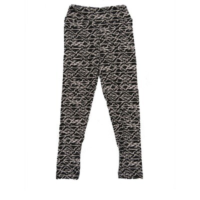 LuLaRoe Kids Small-Medium Geometric Black WhiteLeggings ( S/M fits kids 2-8 ) SM-1008-L