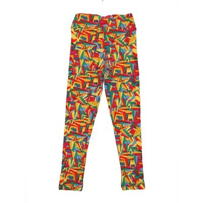 LuLaRoe Kids Small-Medium Geometric Leggings ( S/M fits kids 2-8 ) SM-1003-H