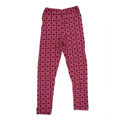 LuLaRoe Kids Small-Medium Geometric Leggings ( S/M fits kids 2-8 ) SM-1004-J