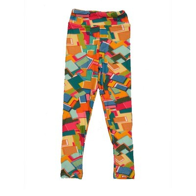 LuLaRoe Kids Small-Medium Geometric Leggings ( S/M fits kids 2-8 ) SM-1008-M