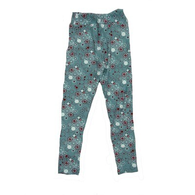 LuLaRoe Kids Small-Medium Geometric Paisley Leggings ( S/M fits kids 2-8 ) SM-1008-N