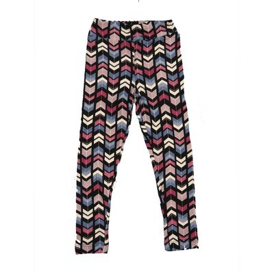 LuLaRoe Kids Small-Medium Geometric Polka Dot Chevron Leggings ( S/M fits kids 2-8 ) SM-1004-M