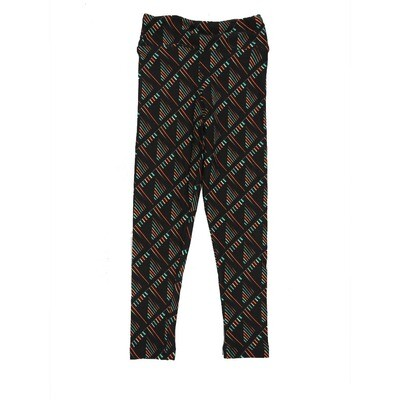 LuLaRoe Kids Small-Medium Geometric Stripe Checkerboard Leggings ( S/M fits kids 2-8 ) SM-1003-V