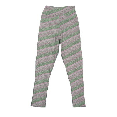 LuLaRoe Kids Small-Medium Geometric Stripe Leggings ( S/M fits kids 2-8 ) SM-1004-P
