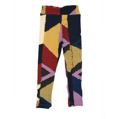 LuLaRoe Kids Small-Medium Geometric Stripe Leggings ( S/M fits kids 2-8 ) SM-1006-C