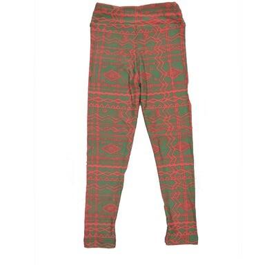 LuLaRoe Kids Small-Medium Geometric Stripe Leggings ( S/M fits kids 2-8 ) SM-1008-C