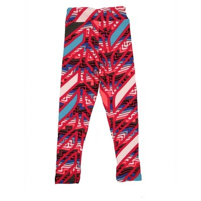 LuLaRoe Kids Small-Medium Geometric Stripe Leggings ( S/M fits kids 2-8 ) SM-1008-E
