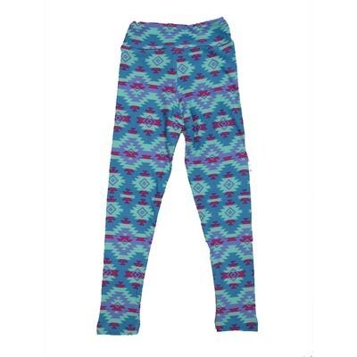 LuLaRoe Kids Small-Medium Geometric Zig Zag Aztek Leggings ( S/M fits kids 2-8 ) SM-1004-T