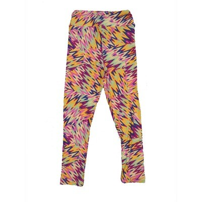 LuLaRoe Kids Small-Medium Geometric Zig Zag Leggings ( S/M fits kids 2-8 ) SM-1003-P
