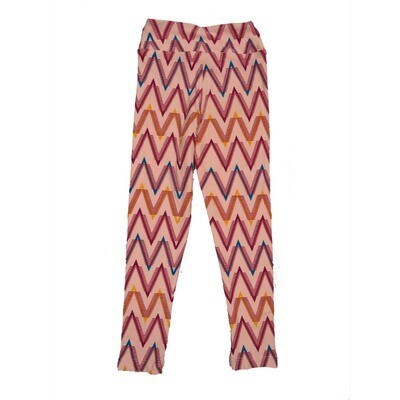 LuLaRoe Kids Small-Medium Geometric Zig Zag Stripe Leggings ( S/M fits kids 2-8 ) SM-1003-S