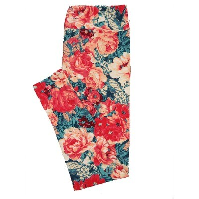 LuLaRoe TC2 Floral Roses Leggings (TC2 fits sizes 18+) 9000-U