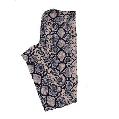 LuLaRoe TC2 Snake Skin Animal Print Leggings (TC2 fits sizes 18+) 9003-A2