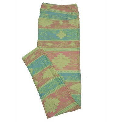 LuLaRoe TC2 Geometric Stripe Aztek Leggings (TC2 fits sizes 18+) 9001-M