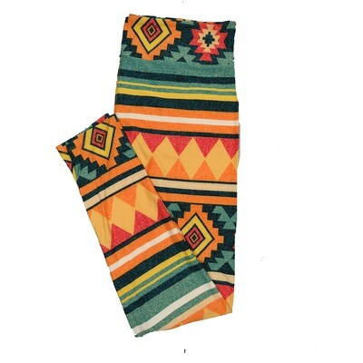 LuLaRoe TC2 Geometric Stripe Leggings (TC2 fits sizes 18+) 9001-K
