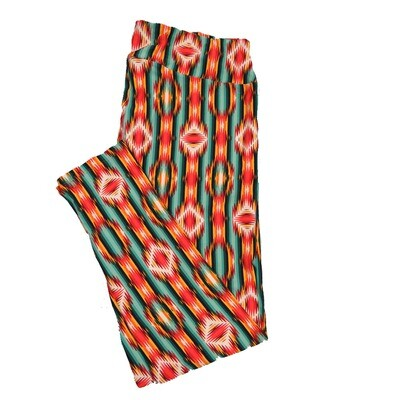 LuLaRoe TC2 Geometric Trippy Psychedelic 70's Stripe Leggings (TC2 fits sizes 18+) 9002-U