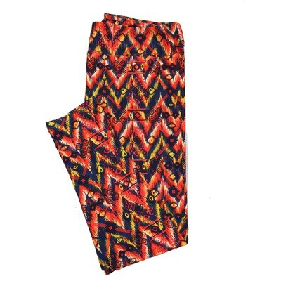 LuLaRoe TC2 Geometric Trippy Zebra Stripe Leggings (TC2 fits sizes 18+) 9002-T