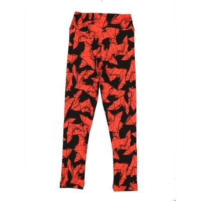 LuLaRoe Kids Small-Medium Halloween Bats Black Orange  Leggings ( S/M fits kids 2-8 ) SM-1005-D