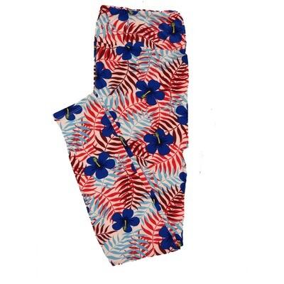 LuLaRoe TC2 Floral Leggings (TC2 fits sizes 18+) 9001-E
