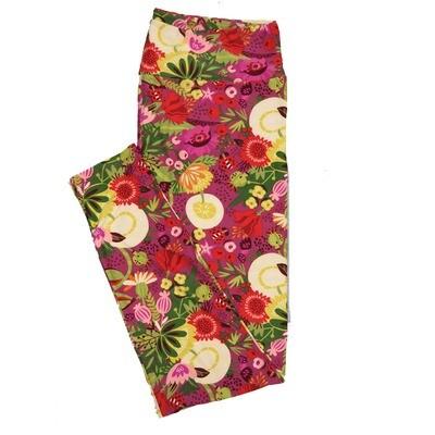 LuLaRoe TC2 Floral Leggings (TC2 fits sizes 18+) 9001-G