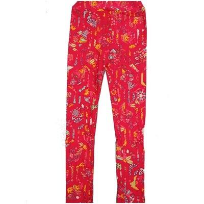 LuLaRoe Kids Large-XL Geometric Floral Pink Leggings ( L/XL fits kids 8-14) LXL-2005-P