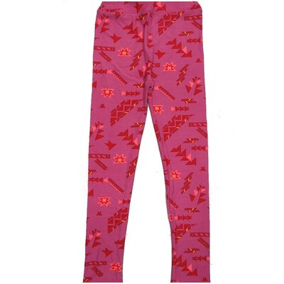 LuLaRoe Kids Large-XL Pink Aztek Geometric Leggings ( L/XL fits kids 8-14) LXL-2004-D2