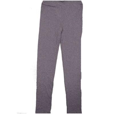 LuLaRoe Kids Large-XL Solid Heathered Blue Gray Leggings ( L/XL fits kids 8-14) LXL-2000-Z