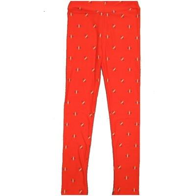 LuLaRoe Kids Large-XL Geometric Orange Blue Yellow Polka Dot Leggings ( L/XL fits kids 8-14) LXL-2001-L2