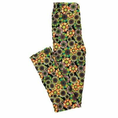 Kids Large-XL (LXL) LuLaRoe Leggings Rainbow Floral Geometric fits sizes 8-14