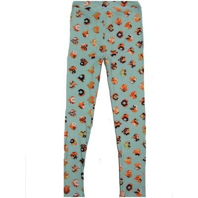 LuLaRoe Kids Large-XL Valentines Polka Dot Heats with Geometric inlay Pink Black Peach Leggings ( L/XL fits kids 8-14) LXL-2000-P