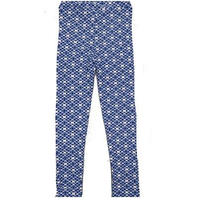 LuLaRoe Kids Large-XL Polka Dot Blue White Mosiac Geometric Leggings ( L/XL fits kids 8-14) LXL-2003-X