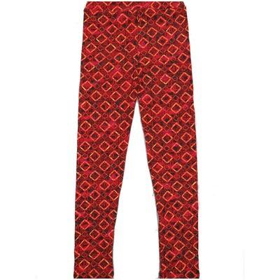 LuLaRoe Kids Large-XL Diamond Polka Dot Red Stripe Leggings ( L/XL fits kids 8-14) LXL-2003-R