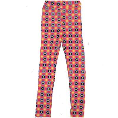 LuLaRoe Kids Large-XL Peach Yellow Polka Dot Stripe Leggings ( L/XL fits kids 8-14) LXL-2001-P