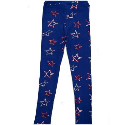 LuLaRoe Kids Large-XL Americana Stars Blue Red White Leggings ( L/XL fits kids 8-14) LXL-2001-J2
