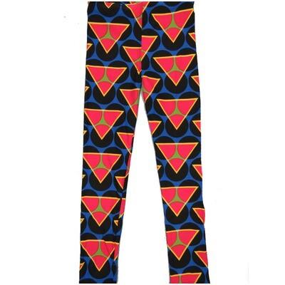 LuLaRoe Kids Large-XL Large Polka Dots Triangles Blue Black Watermelon Leggings ( L/XL fits kids 8-14) LXL-2003-U