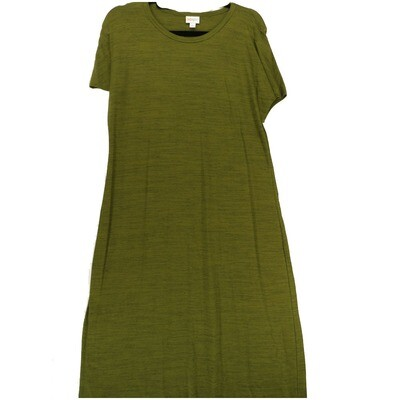 LuLaRoe Maria Large L Army Green with Black Micro Thin Stripe Maxi Dress fits sizes 14-16