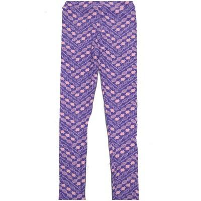 LuLaRoe Kids Large-XL Southwestern Aztek Zig Zag Blue Stripe Leggings ( L/XL fits kids 8-14) LXL-2004-U