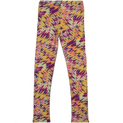 LuLaRoe Kids Large-XL Trippy Zig Zag Patchwork Rainbow Geometric Leggings ( L/XL fits kids 8-14) LXL-2003-W