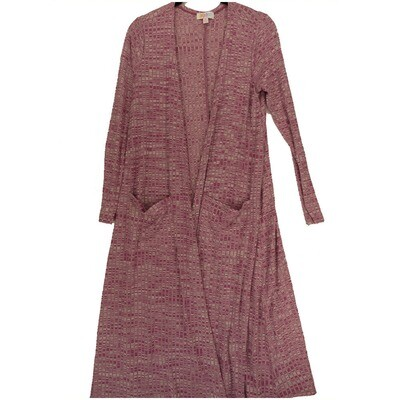 LuLaRoe SARAH Small S Heather Purple White Geometric Stripe Cardigan fits Womens sizes 6-8