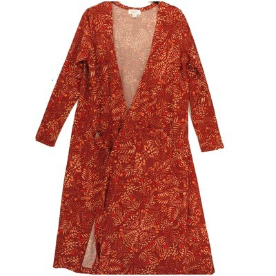 LuLaRoe SARAH Medium M Floral Dark Red Pink Cardigan fits Womens sizes 10-12