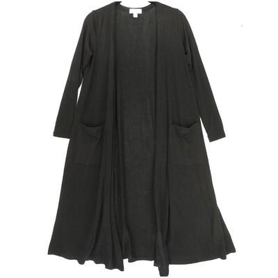 LuLaRoe SARAH X-Small XS Solid Black Cardigan fits Womens sizes 0-4