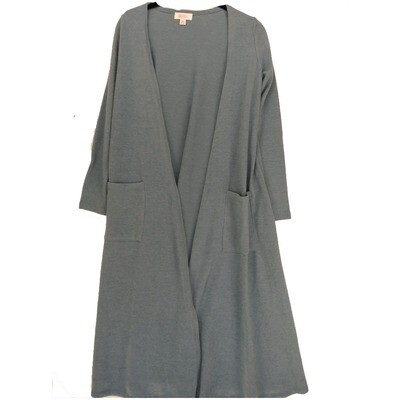 LuLaRoe SARAH X-Small XS Solid Light Slate Blue Cardigan fits Womens sizes 0-4