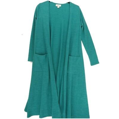 LuLaRoe SARAH X-Small XS Solid Teal Cardigan fits Womens sizes 0-4