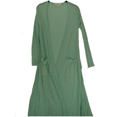 LuLaRoe SARAH X-Small XS Solid Sea Foam Green Cardigan fits Womens sizes 0-4