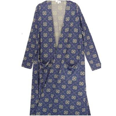 LuLaRoe SARAH Large L Geometric Mandala Purple Blue White Cardigan fits Womens sizes 14-16